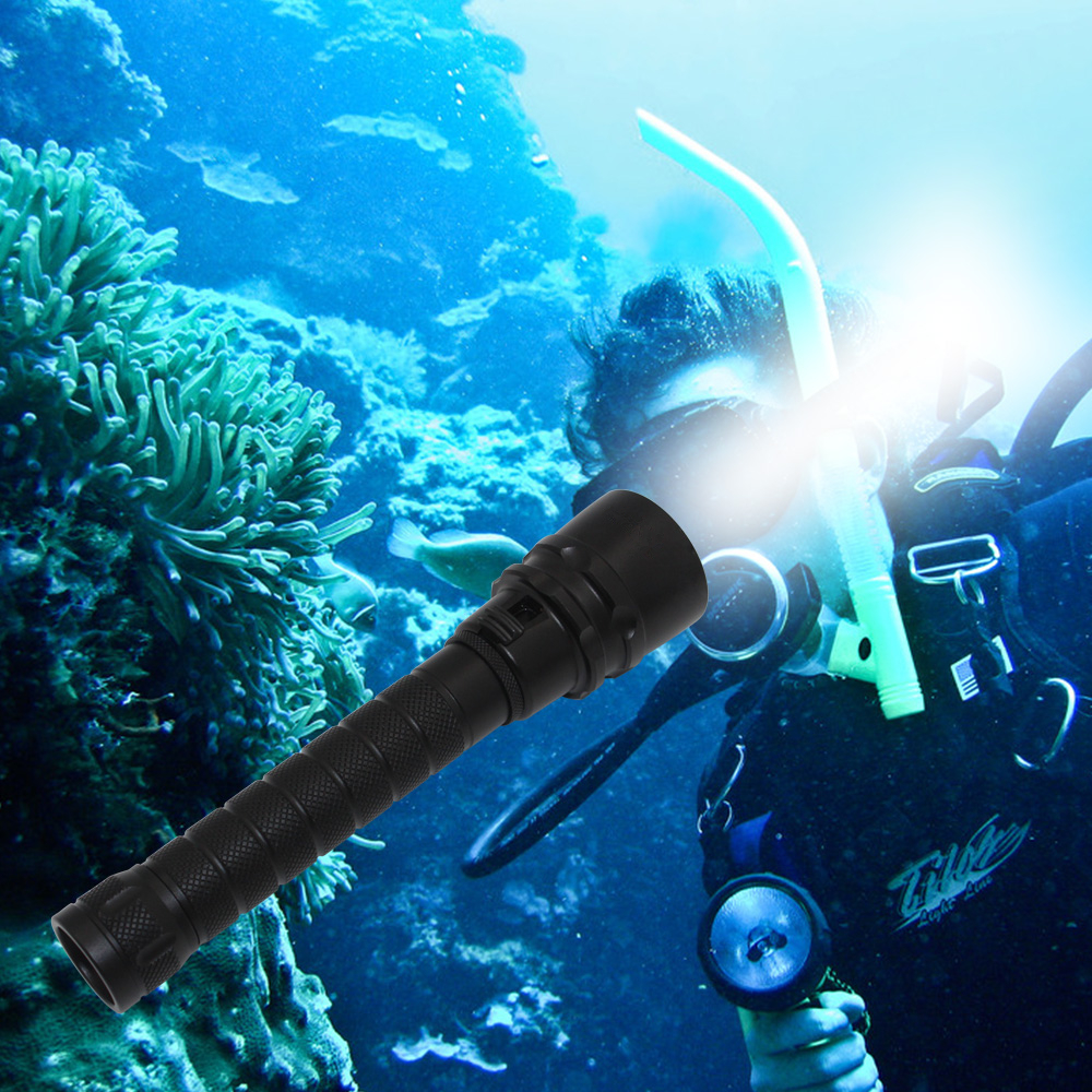 Underwater spearfishing light diving flashlight dive torch  XM-L2 LED Waterproof lanterna + 18650 PCB battery + charger scuba dive light