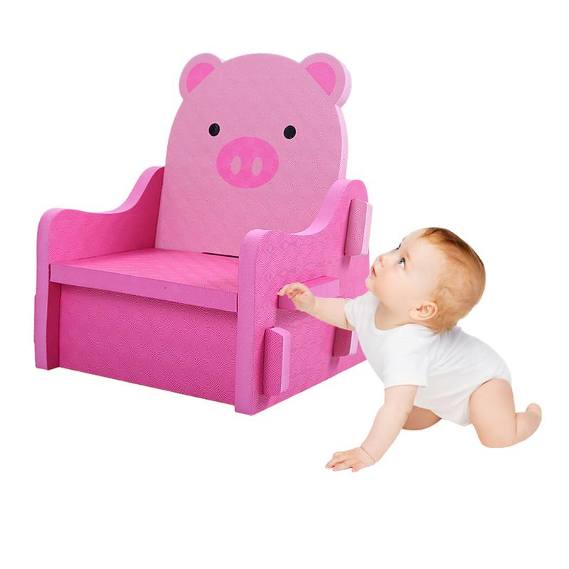 Baby Seats PE Plastic Piecing Safe Foam Baby Chair Learning To Sit Soft Toys Portable Animal Pig Travel Seat For Baby Kids