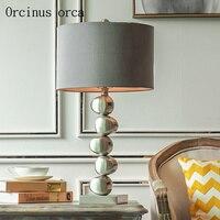 Nordic Modern Sense Creative Water Bead Table Lamp Living Room Bedside Lamp American Post modern Luxury LED Silver Table Lamp