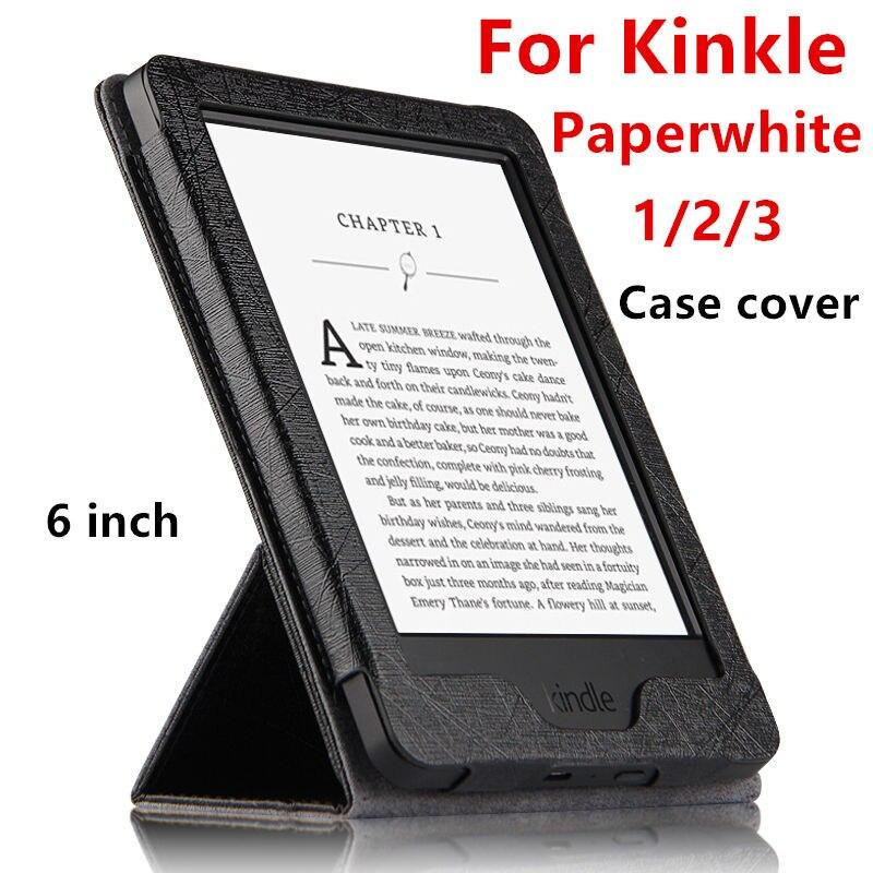 2018 novo Caso de E-book Para Kindle Paperwhite Capa Protetora Para Amazon  Kindle Paperwhite 3 1 2 PU LEATHER Protector Manga 6