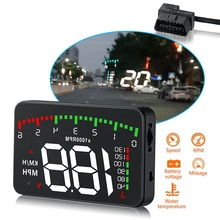 цена на 3.5 A900 HUD Head-Up Display Car-styling Hud Display Overspeed Warning Windshield Projector Alarm System Universal Auto