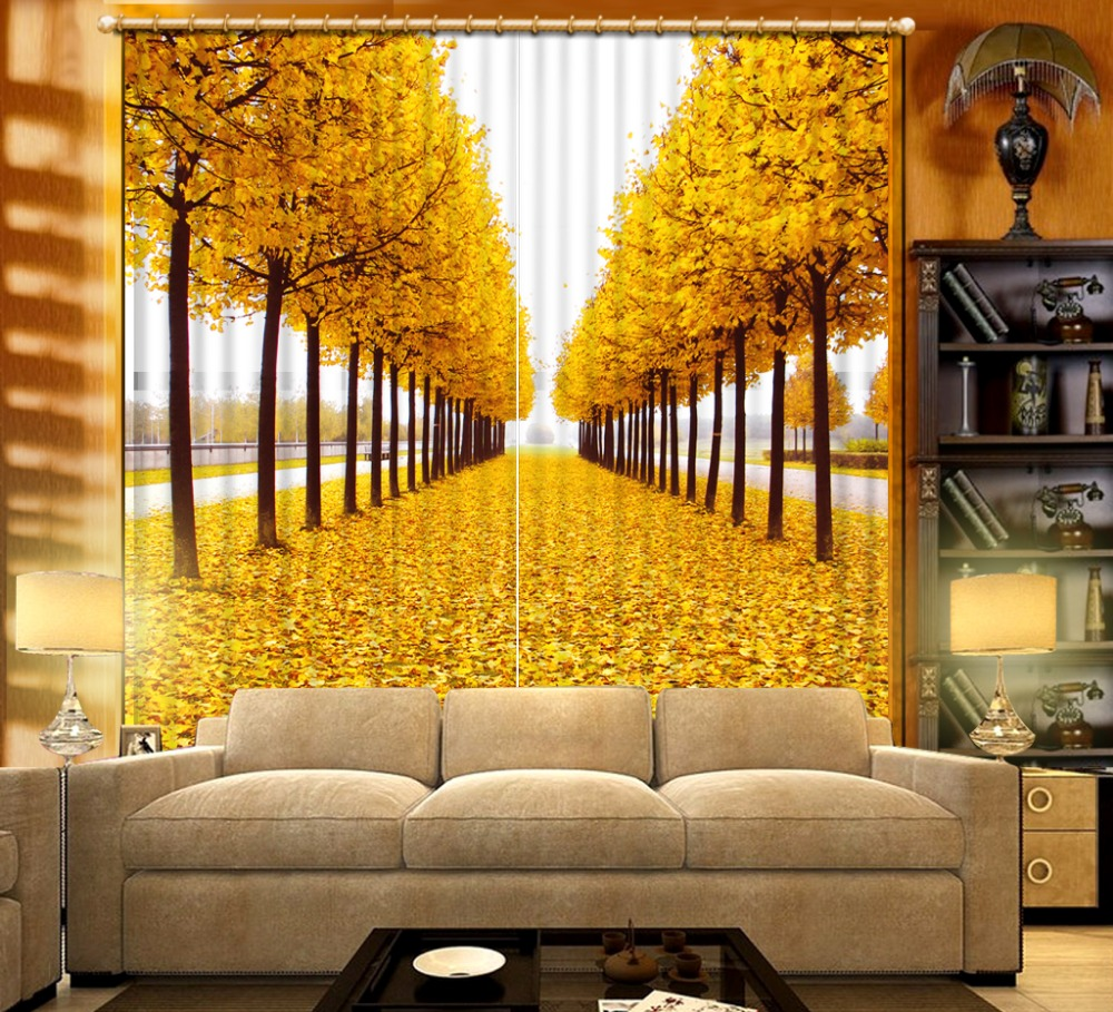 Photo Customize size Classic Home Decor auturen nature scenery 3d ...