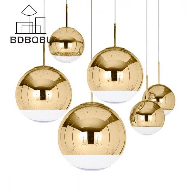 BDBQBL Modern Classic Electroplate Pendant Light Famous Design Silver Glass Mirror Durface Star Ball for Palor Home Bar Room E27