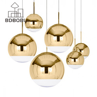 BDBQBL Modern Classic Electroplate Pendant Light Famous Design Silver Glass Mirror Durface Star Ball For Palor