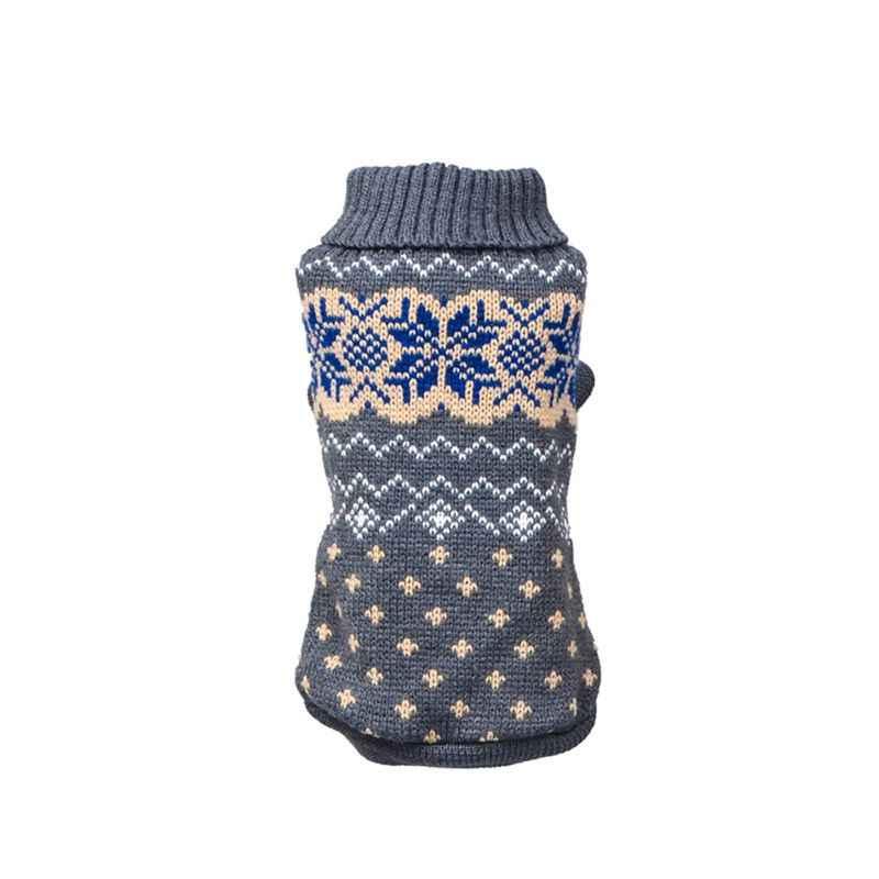 Теплые свитера для собак, жаккардовый вязаный клетчатый свитер со щенком, джемпер для питомца, вязаные свитера для животных, для маленьких и средних собак, XS-XXL