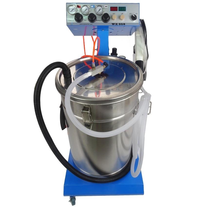1pc Electrostatic Powder Coating machine Electrostatic Spray Powder Coating Machine Spraying Gun Paint fhis 65 coating machine spray valve three anti paint fan shaped