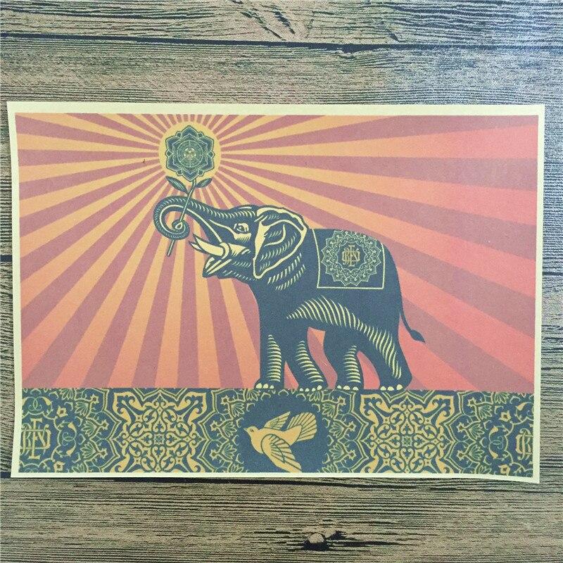 "Freeshipping PSJ 023 vintage poster ""Cute little elephant ..."