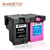Magnetic Compatible ink cartridges For HP818 For HP 818 DJ D2500 F2418 D2568 D1600 D1668 D2600 D2668 F4200 F4238 printers 818XL