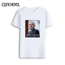 Julian Assange poster oversized modal short sleeves tshirt large size printed homme regular casual tops tee men