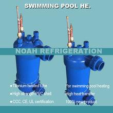 3.8KW титановый теплообменник для теплового насоса бассейна, титановый конденсатор