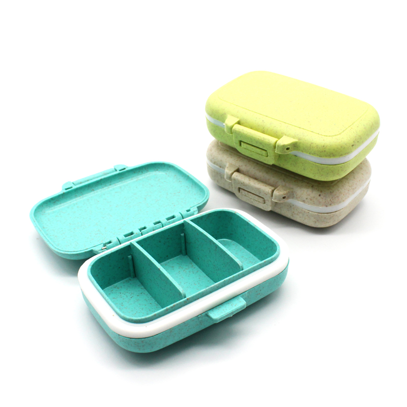 Portable Mini Pill Box Medicine Boxes 3 Grids Travel Home Medical Drugs Tablet Empty Container Home Holder Pill Cases  Splitters