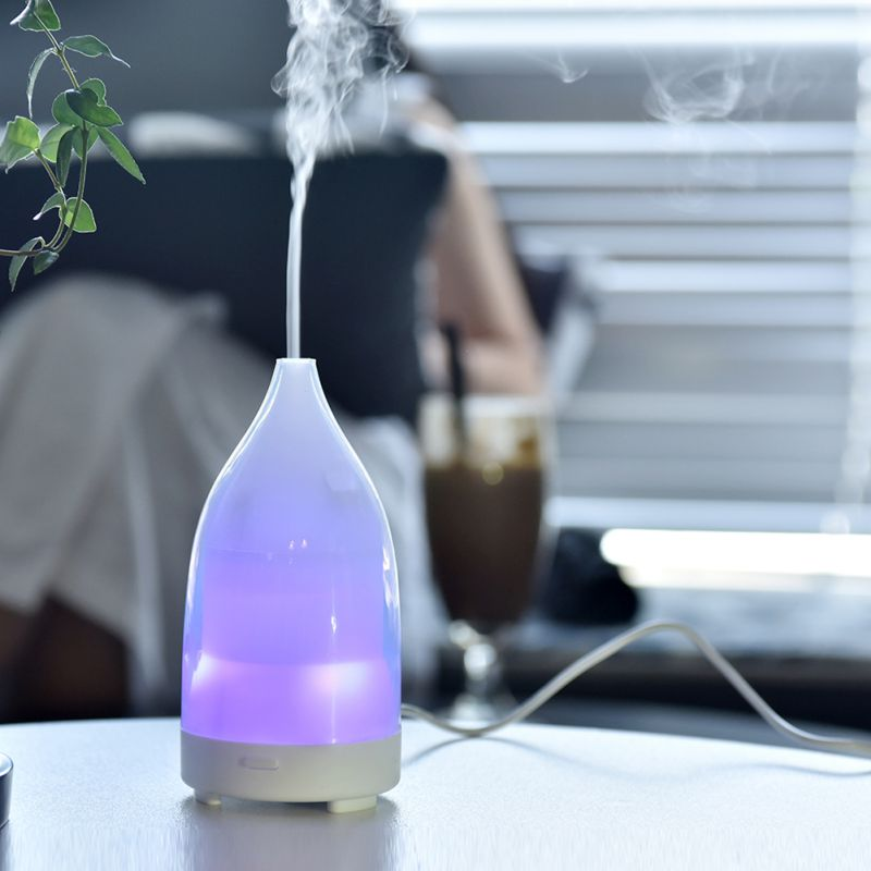 High Quality 50ML Essential Oil Diffuser Ultrasonic LED Light USB Port For Option Aroma Diffuser Difusores Humidifier Usb