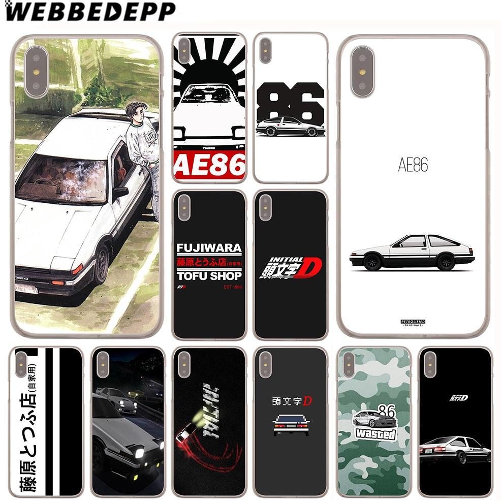 WEBBEDEPP INITIAL D  86 Case for Apple iPhone 4 4S 5C 5S SE 6 6S 7 8 Plus 10 X Xr Xs Max 6Plus 7Plus 8Plus