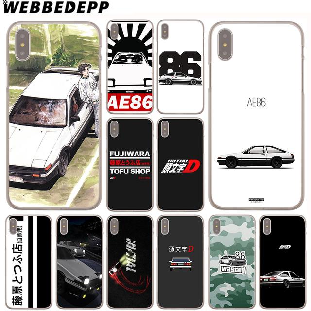 half off 96a71 3ae9e US $1.99 13% OFF|WEBBEDEPP INITIAL D 86 Case for Apple iPhone 4 4S 5C 5S SE  6 6S 7 8 Plus 10 X Xr Xs Max 6Plus 7Plus 8Plus-in Half-wrapped Case from ...