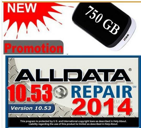 2018 Latest Auto Car Repair Software Alldata 10.53+mitchell On Demand In 750g Hard Disk