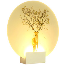 Deer Mural LED Wall Lamp Acryl Sconce Light Modern Indoor Decoration Lighting Wall Mounted Foyer Living Room Bedroom Night Lamp simple creative acryl crystal wall sconce modern led wall light fixtures for bedroom wall lamp indoor lighting lampara