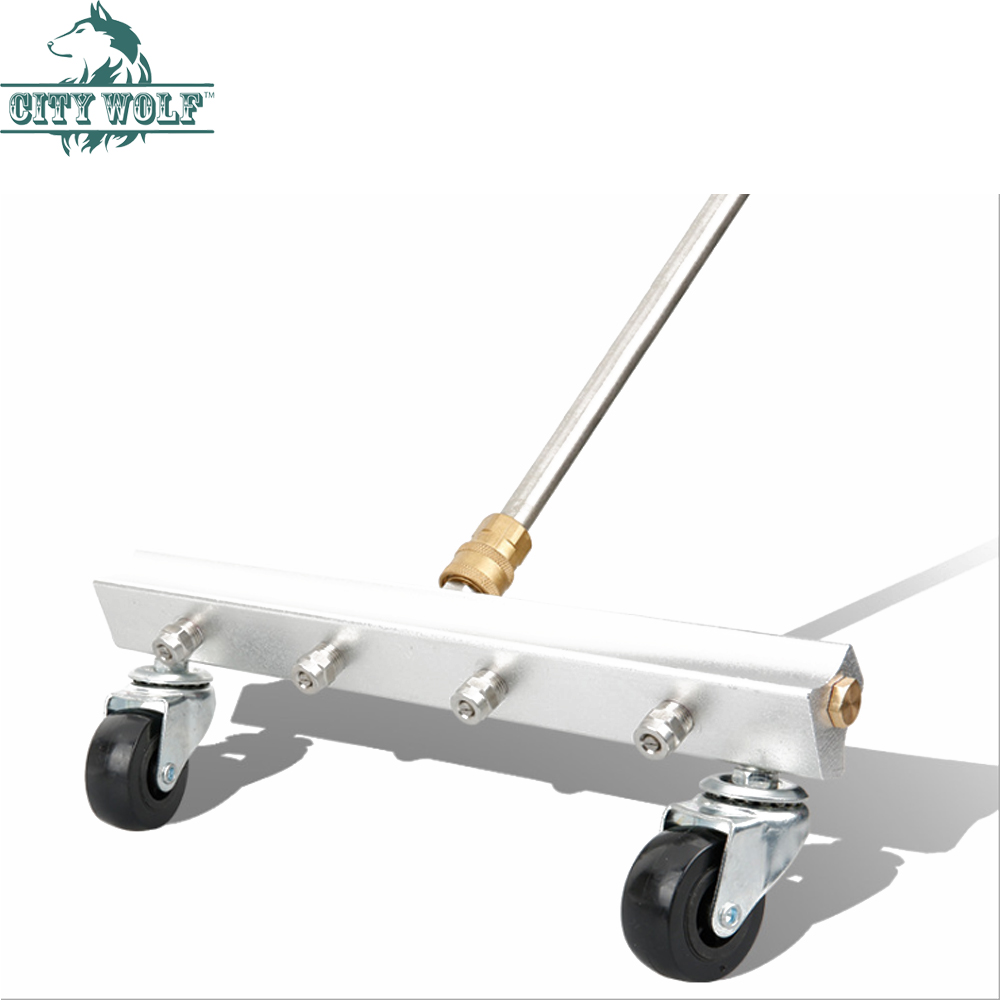 city wolf high pressure washer car chassis cleaner with stainless steel nozzle road cleaning equipment car washer accessory in Car Washer from Automobiles Motorcycles