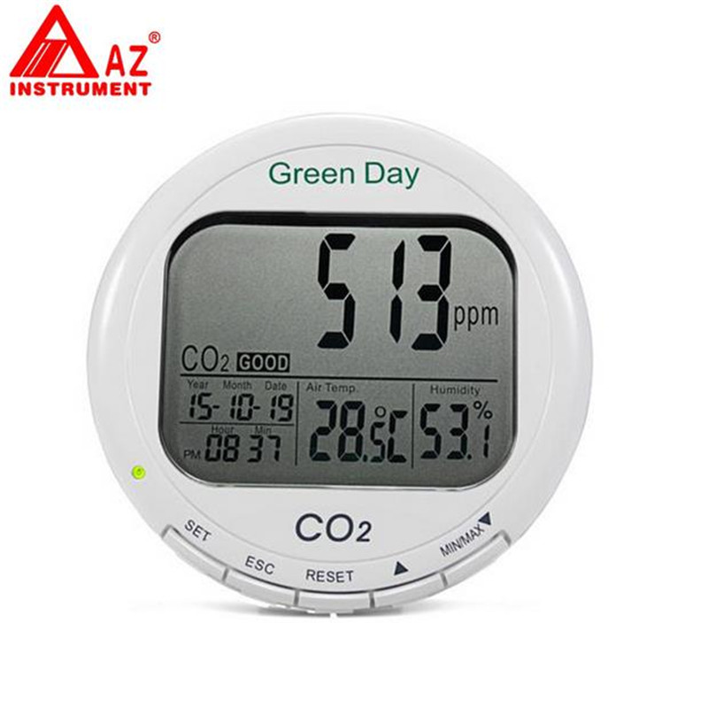 AZ7788 CO2 Monitor 3 in 1 Desktop carbon dioxide Datalogger CO2 Gas Detector Meter Air Quality Temperature RH 0~9999ppm