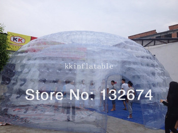 Надувная прозрачная палатка для рекламы
