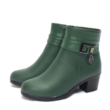 AIYUQI ankle boots female 2019 New style high heel  wool lining genuine leather women fashion