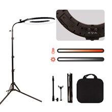 """GSKAIWEN 18 """"60 W LED יופי אור גבות קעקוע איפור מנורת טבעת אור Dimmable צילום סטודיו וידאו אור עם סוללה חריץ"""