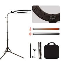 """GSKAIWEN 18 """"60 W LED Güzellik Işık Kaş Dövme Lamba Makyaj halka ışık Dim Fotoğraf Stüdyosu Video Işığı ile Pil yuvası"""