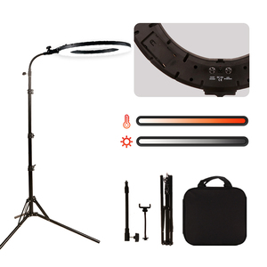 """Image 1 - GSKAIWEN 18""""60W LED Beauty Light Eyebrow Tattoo Lamp Makeup Ring Light Dimmable Photography Studio Video Light with Battery Slot"""