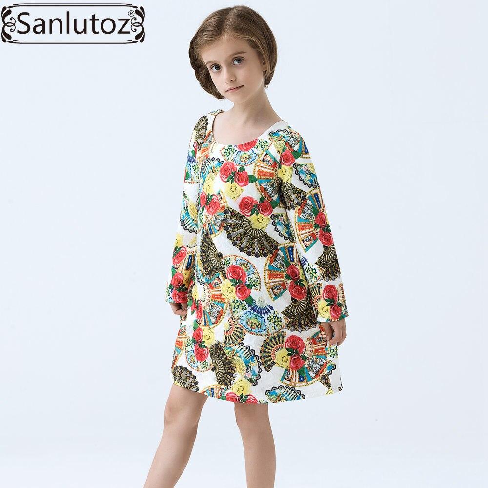 Girls Dress Flower Children Clothing Brand Winter