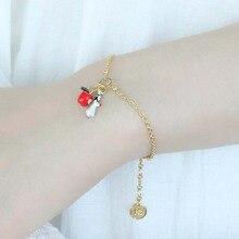 цены Fashion Snow White Series Bracelet Women Enamel glaze Bracelet Hand Copper Decor Open Ring Novelty Party Decoration