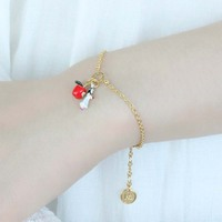 Fashion Snow White Series Bracelet Women Enamel glaze Bracelet Hand Copper Decor Open Ring Novelty Party Decoration