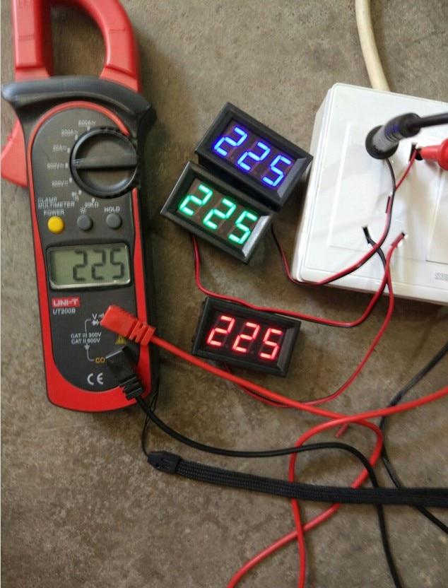 AC 30V ~ 500V napětí digitální voltmetr metr dvouvodičový 0,56 - Měřicí přístroje - Fotografie 6