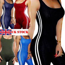 UK Women Bodycon Slim Jumpsuit Romper Club Party Long Sleeve Playsuit Trousers