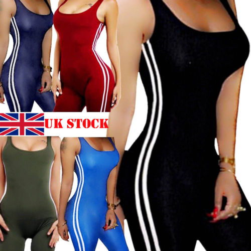 UK Women Bodycon Slim Jumpsuit   Romper   Club Party Long Sleeve Playsuit Trousers