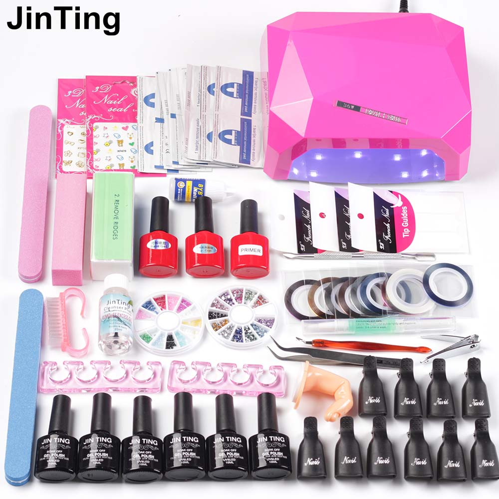 Nail Polish Manicure Set Kit Gel Nail Polish 36W UV Lamp for Nail Dryer Base &Top Coat Gel 10ml Nail Polish Manicure Tools Sets