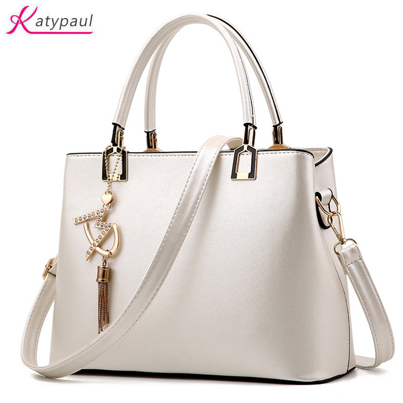 Bolso Mujer 2017 Fashion Hobos Women White Bag Ladies Brand Leather Handbags Spring Casual Tote Bag