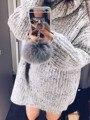 Мяч Меха кролика Кисточкой Зеркало ТПУ Case Для Iphone 6 6 S 7 Плюс 5 5S 4S Samsung Galaxy Note 5 4 3 S5/4/3 S7 S6 Edge Plus A5/7/8