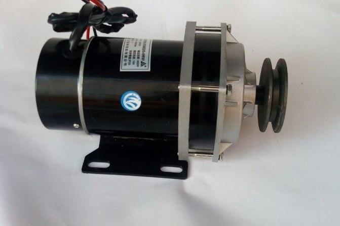 500w 24V 36V 48V belt pulley gear motor brush motor electric tricycle motor DC gear brushed