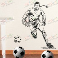 Free shipping Wall Stickers Wholesale and retail Wall decor PVC material decals wallpaper football World Cup Z-182