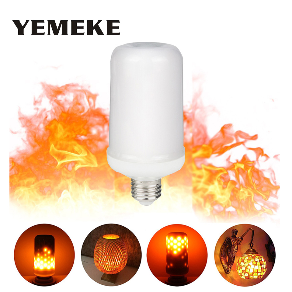1 unids nuevo E14 E27 LED llama fuego efecto bombilla 5 W 7 W 85-265 V smd2835 lampada LED llama Lámparas parpadeo Lámparas LED para Decoración para el hogar