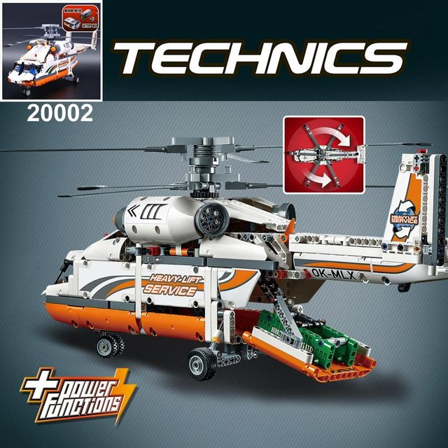 Lepin toys technic series mechanical group high load helicopter building assembling blocks toys for boys