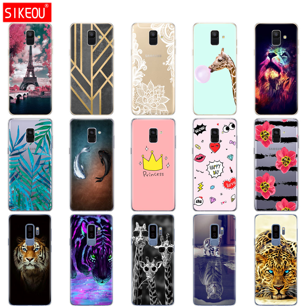 newest 6a11f 7d3f8 Silicone Phone Case Cover For Samsung Galaxy A6 A8 S8 S9 PLUS Back Cover  A600 A605 A530 A730 Bumper Coque Etui