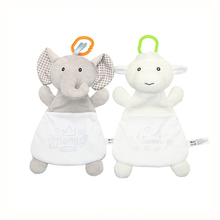 Newborn Soothing Toy Cute Cartoon Animal Comfort Towel Baby Plush Storage Candy Bag Bed Hanging Appease Doll