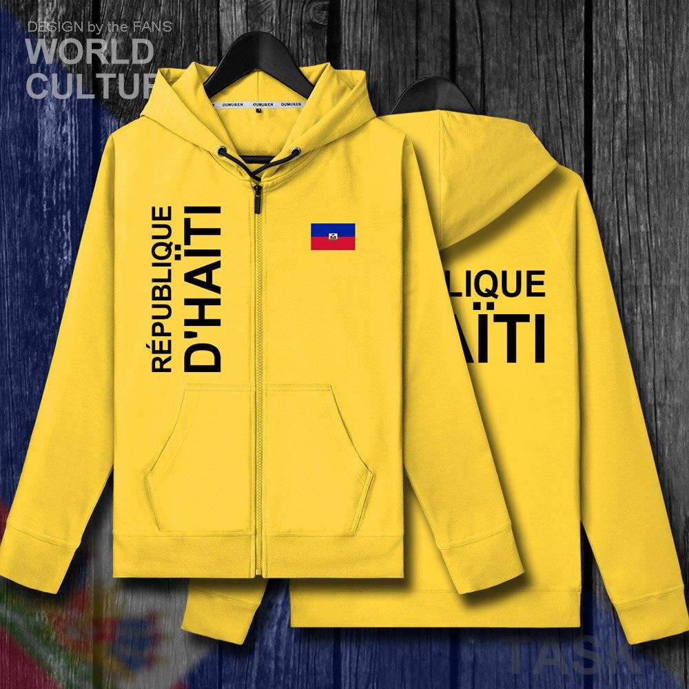 Haiti Haitian Hayti Ayiti Mens Fleeces Hoodies Sweatshirt Winter Zipper Cardigan Jerseys Men Jackets And Coat Tracksuit Clothes