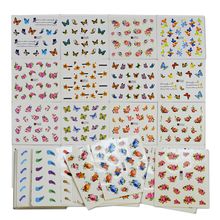 50 Sheets Random Designs Water Transfer Nail Stickers Sets Fashion Flower DIY Nails Beauty Decals Manicure Polish Tools TRND292