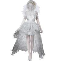 DELEGATE Women Vampire Zombie Cosplay Decadent Dark Ghost Bride Mesh Mini Dress 2016 Halloween Costumes Cosplay