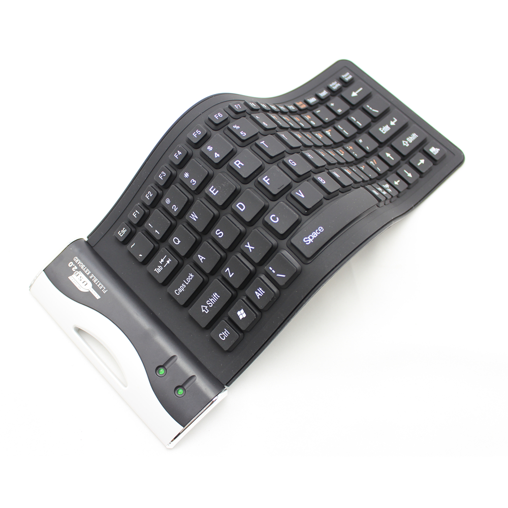 SOONGO Silicone keyboard Ultra Slim Thin Foldable Wired Keyboard with Touchpad for iPad Pro MobilephoneTablet PC Free shipping in Keyboards from Computer Office