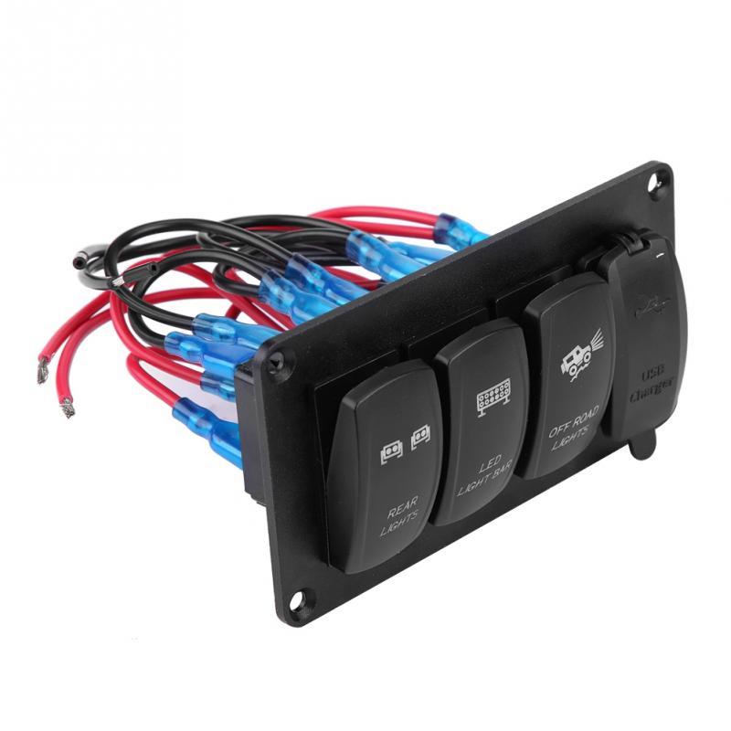 12  24v Dual Light Switch 3 Switch Rear Lights   Led Light