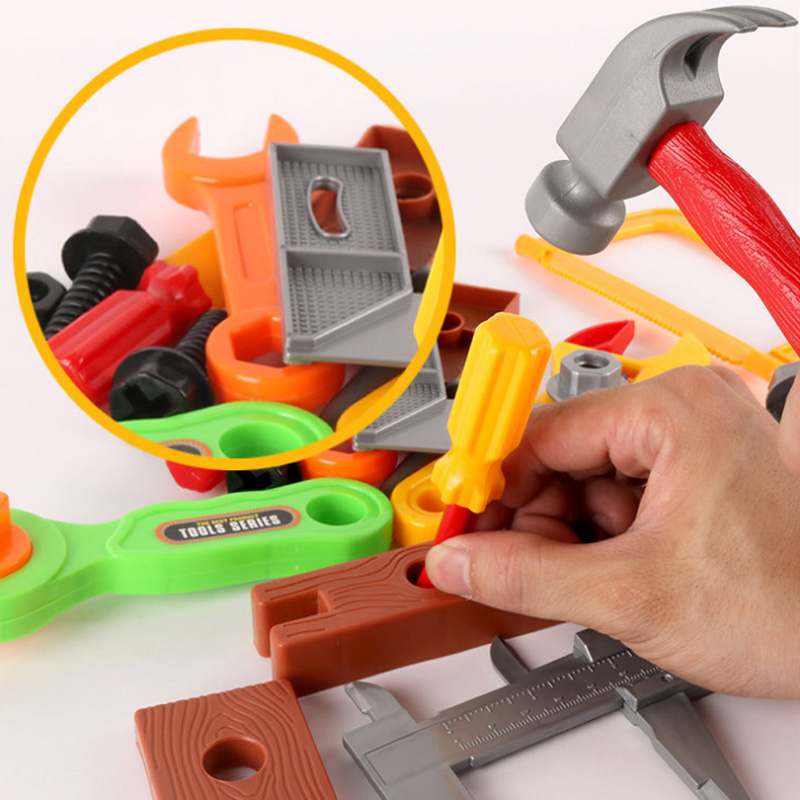 19Pcs/set Pretend Play Educational Children Tools Repair Tools Toy Pretend Play Toys Baby Early Learning Toys With Random Color