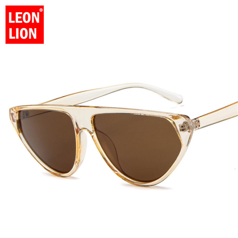 LeonLion 2018 Trsanpant Candy Colors Sunglasses Women Luxury Man/Women Sun Glasses Classic Vintage Shopping UV400 Street Beat