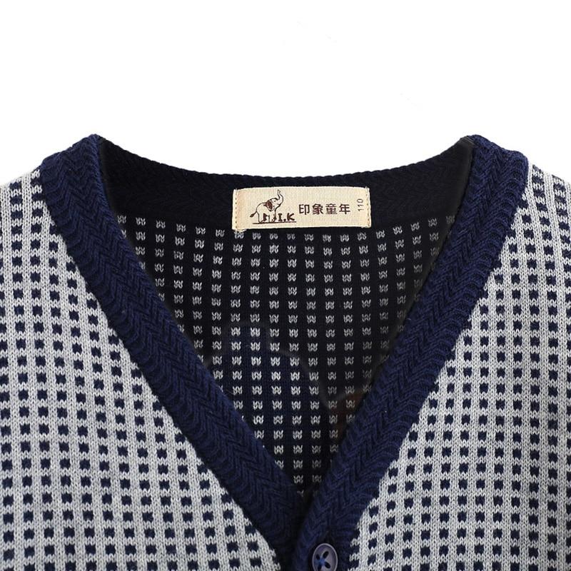 I.K boys sweater baby kids knitwear cardigan Jacquard knitting sweater long sleeve top child cloth England Preppy Style MO26010